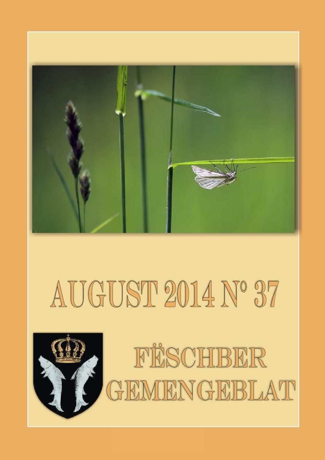 August 2014 Gemengeblat No. 37