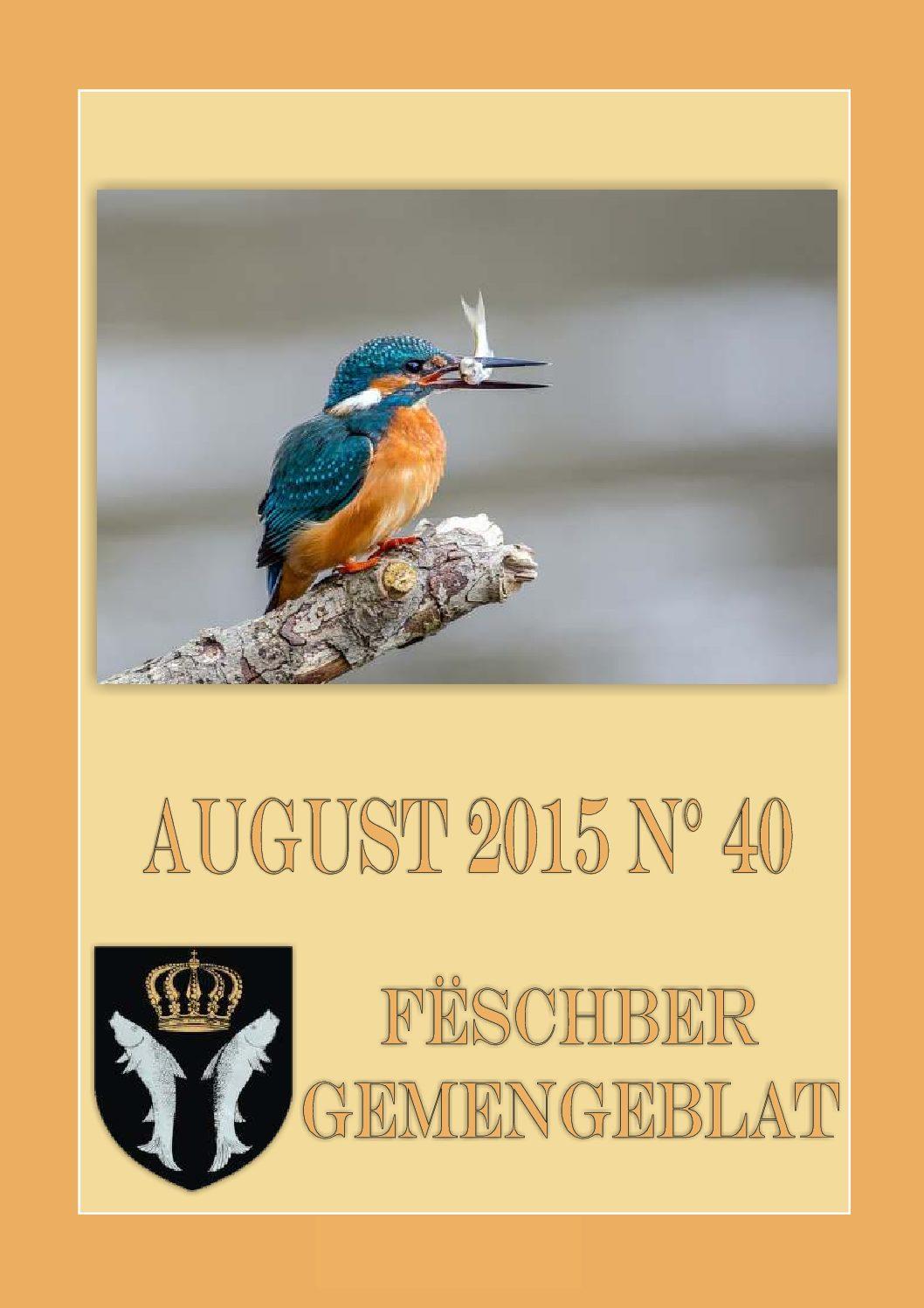 August 2015 Gemengeblat No. 40