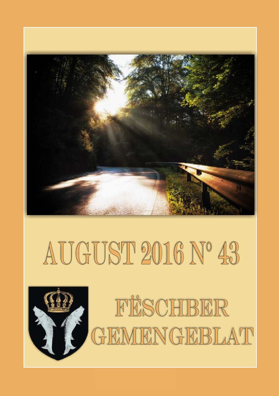 August 2016 Gemengeblat No. 43