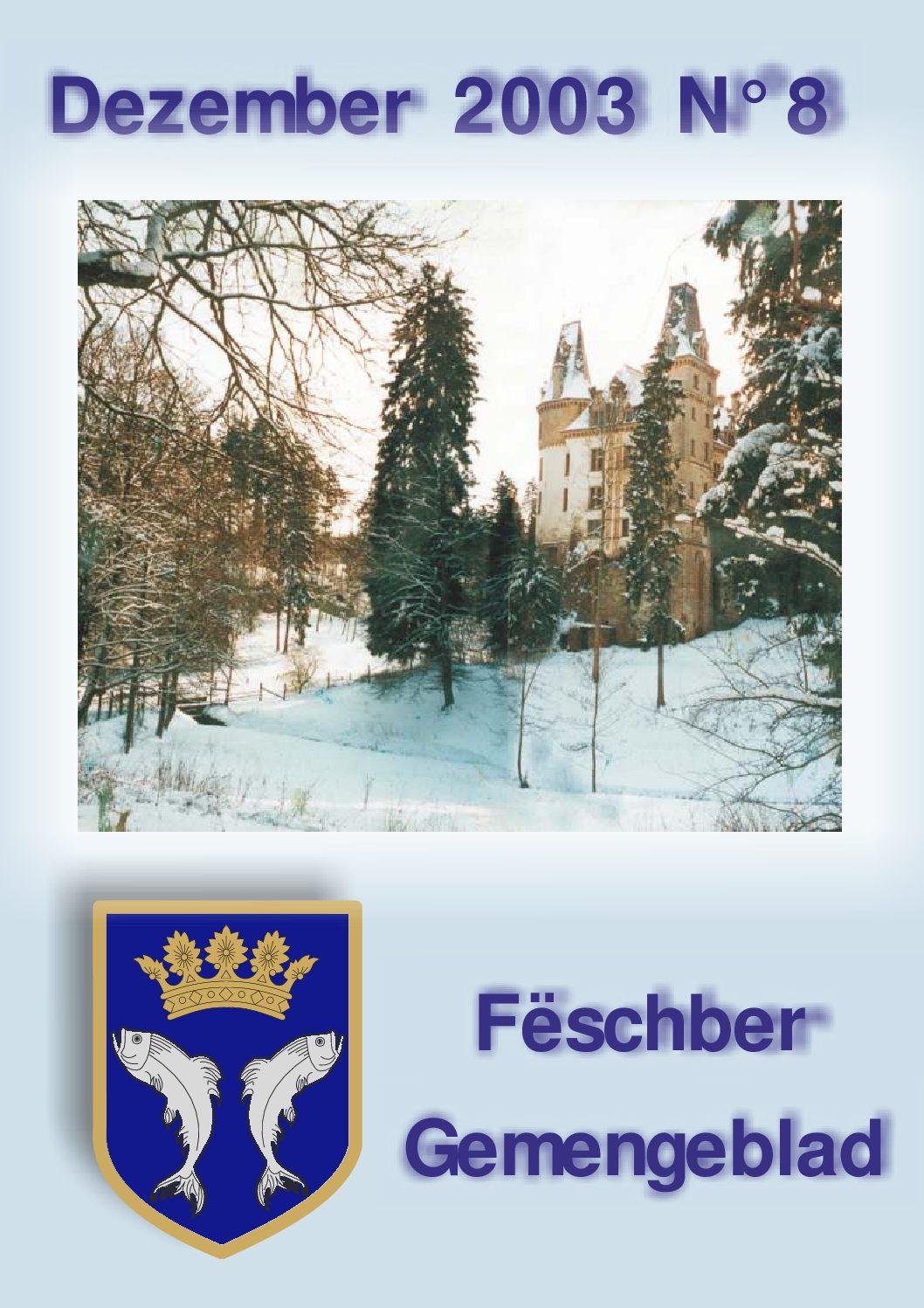 Dezember 2003 Gemengeblat No. 8