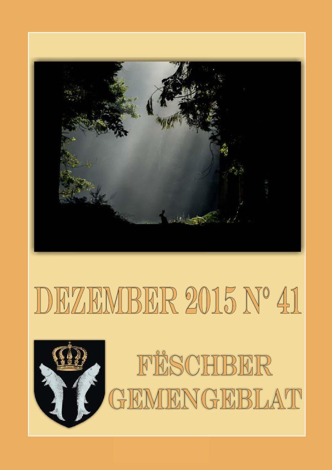 Dezember 2015 Gemengeblat No. 41