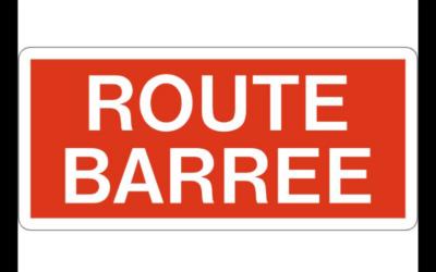 CR119 Route barrée du 8 au 14 novembre 2021